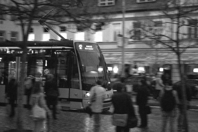 Aufgenommener Stadtverkehr. Foto: VPavel