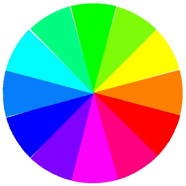 Gelb und Blau befinden sich auf dem Farbkreis genau gegenüber. Betont man die eine Farbe, wird zugleich die zweite gedämpft.