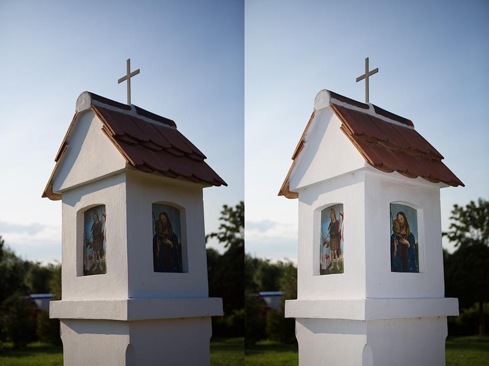 Links ein Foto ohne Blitz, rechts mit aktiviertem Blitzlicht zur Aufhellung der dunklen Schatten. Canon 5D Mark III, Canon EF 24-70/2.8, 1/2000 s, F2,8, ISO 100, Brennweite 70 mm