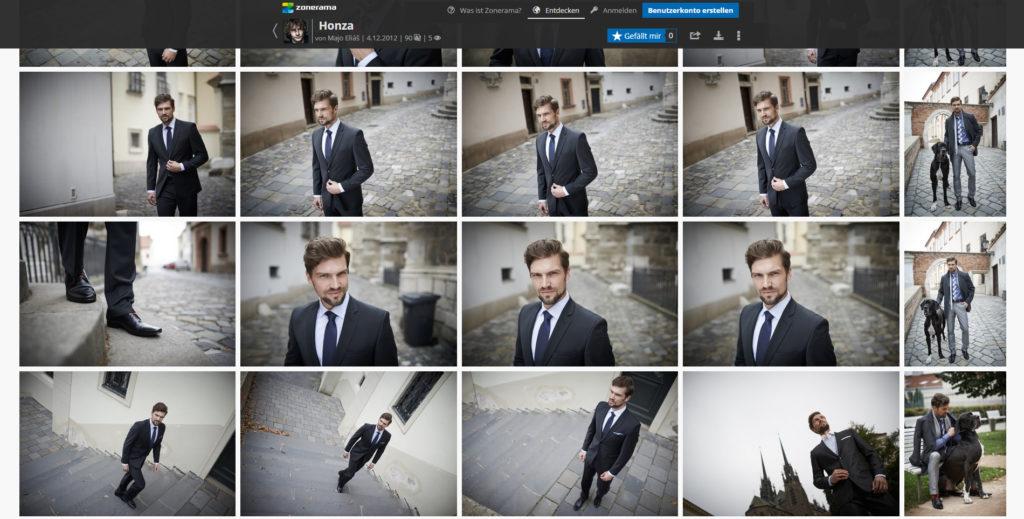 Senden Sie die Fotos in einem passwortgeschützten Album an Ihren Kunden. Er wird daraus die endgültigen Bilder auswählen.
