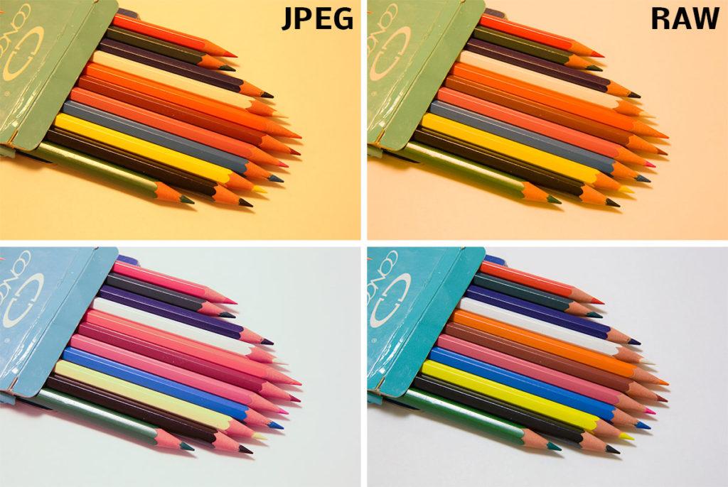 JPEG und RAW mit falscher Weißabgleicheinstellung (oben) und nach durchgeführter PC-Korrektur, nach welcher das Papier im Hintergrund völlig weiß erscheinen soll (unten). Canon 5D Mark III, Canon 24-70/2,8, 1,0 s, F18, ISO 200, Brennweite 58 mm