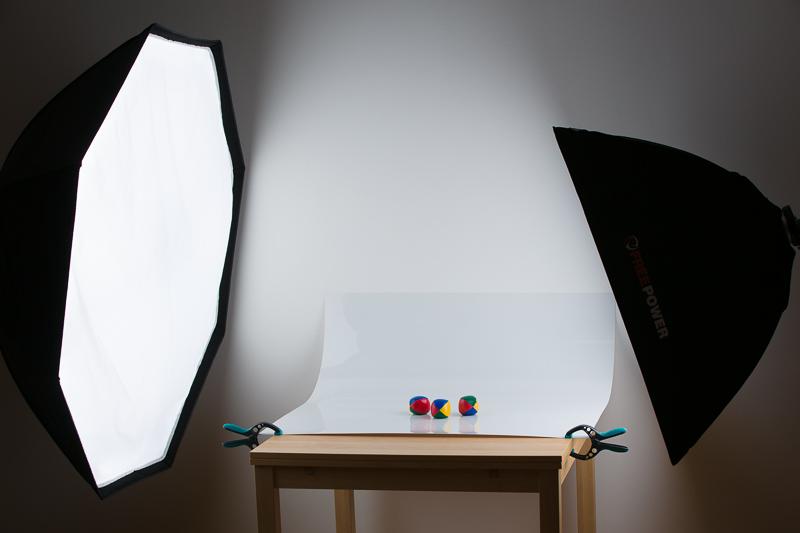 Szenenaufstellung mit Plastikplatte.