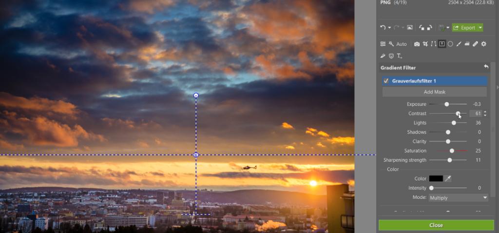 So verwenden Sie den Verlaufsfilter beim Bearbeiten von Fotos
