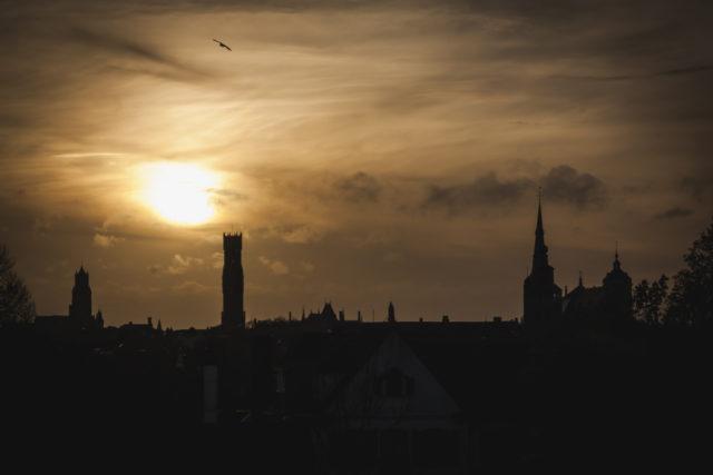 Kurz vor dem Sonnenuntergang.