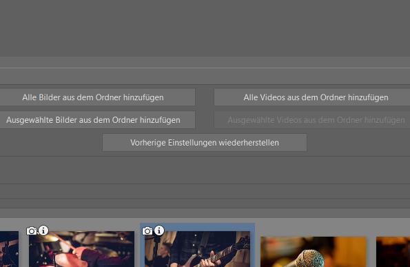 Fügen Sie Videos und Fotos hinzu.