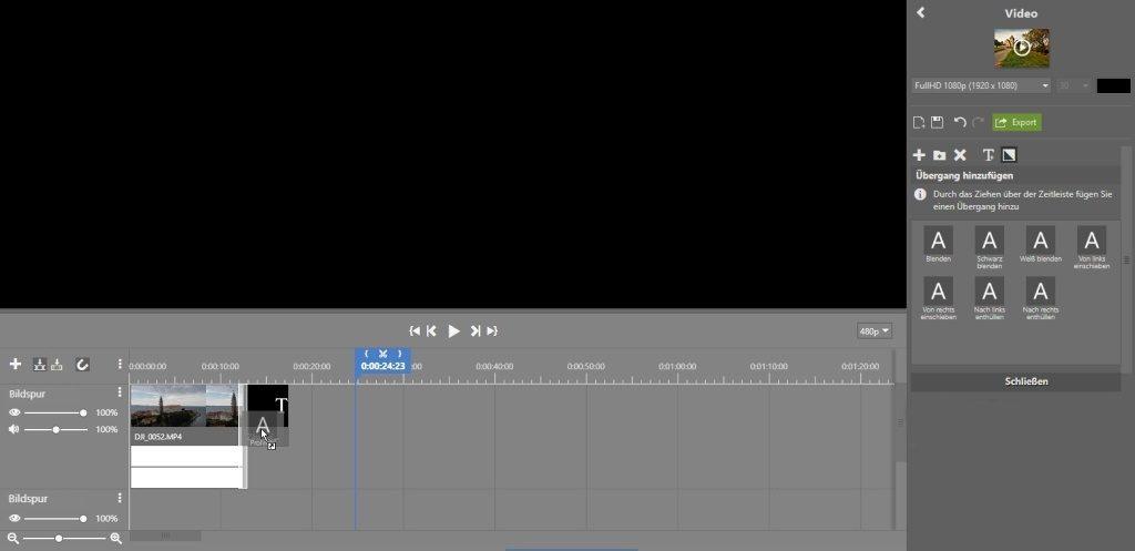 Videoschnitt mit nur wenigen Klicks: uberganseffekt.