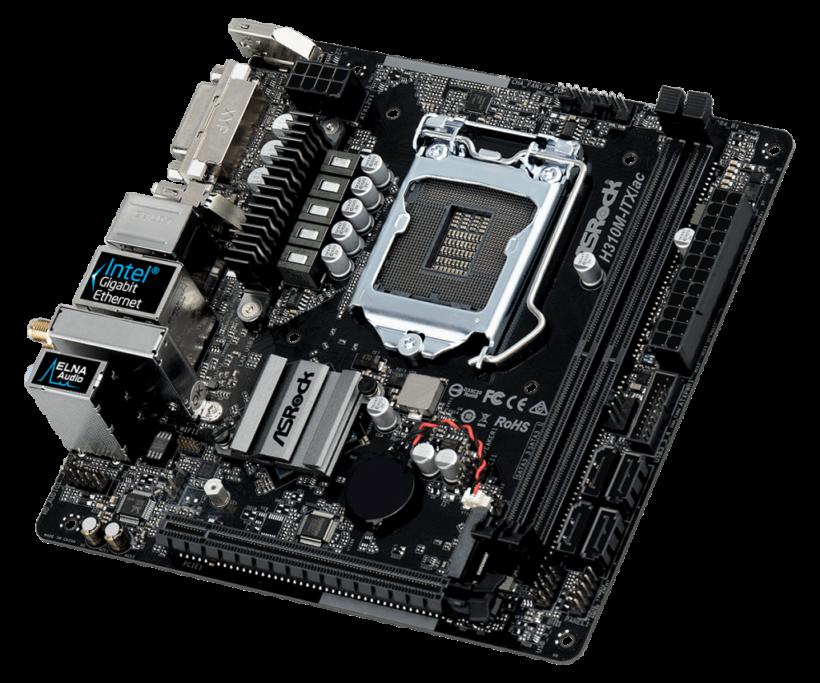 Computer für Fotografen: Mainboard ASRock H310M-ITX/ac.
