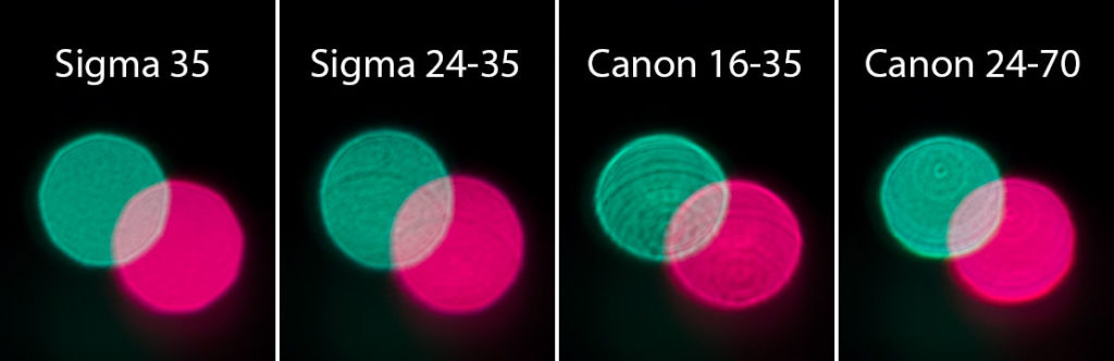 Detailansicht des Lichtpaares oben in der Mitte der vorherigen Aufnahme.