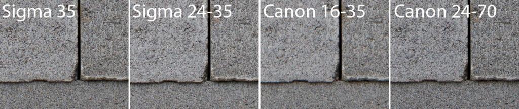 Ausschnitt zum Vergleich beim mittigen Fokusfeld.