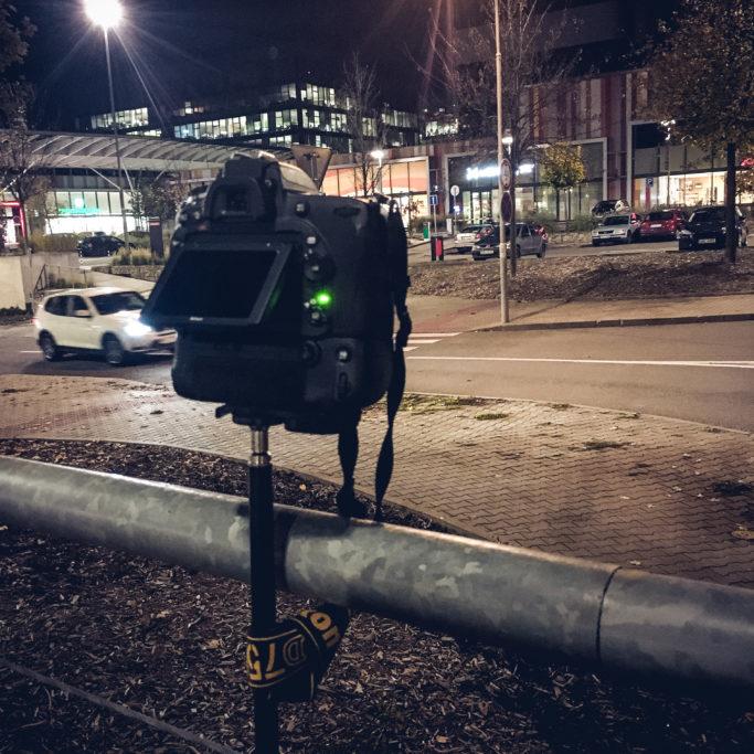 Timelapse-Videos: Aufnahmen am Geländer.