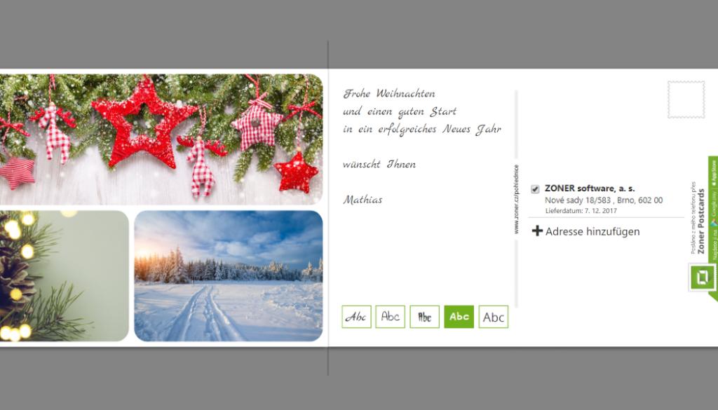 Erstellen Sie individuelle Postkarten zu Weihnachten