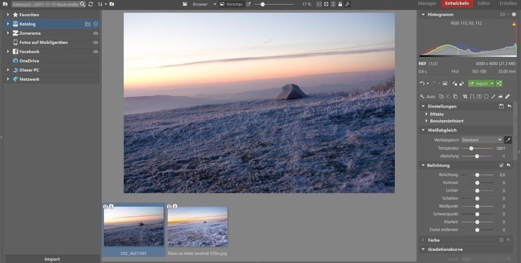 Weißabgleich, Vignettierung und 3 weitere Bearbeitungstipps, die winterliche Landschaftsfotos verschönern: Wissabgleich.