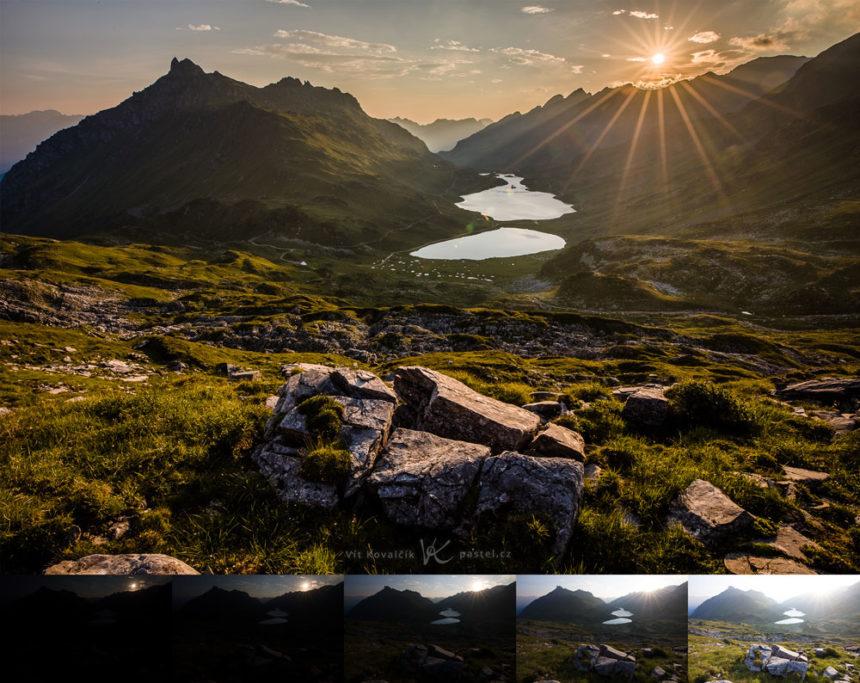 Aufnahmen bei Gegenlicht: Dieses Bild habe ich aus 5 Fotos mit unterschiedlichen Helligkeitsstufen erstellt.