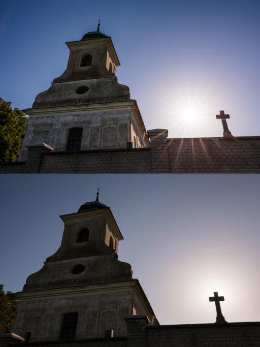 Aufnahmen bei Gegenlicht: Die Sonne hinter einem Element zu verstecken, ist nur eine Frage von wenigen Schritten.
