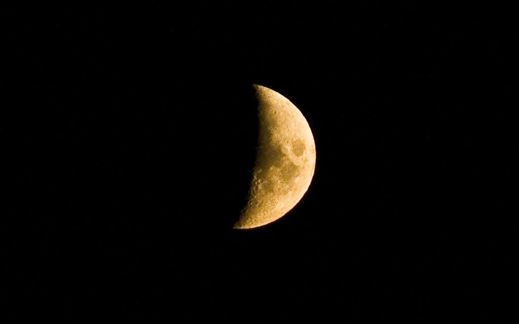 Wie man den Monde fotografiert: Mondsichel.