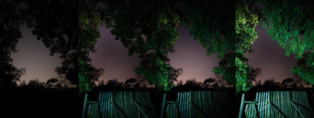 Landschaften unter unterschiedlichen Bedingungen fotografieren - nacht lampe