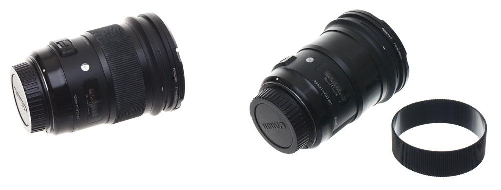 Reinigung von Objektiven und Sensoren: Zoom Gummirings.
