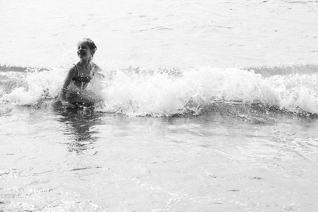 Kinder bei Gegenlicht fotografieren - am Meer