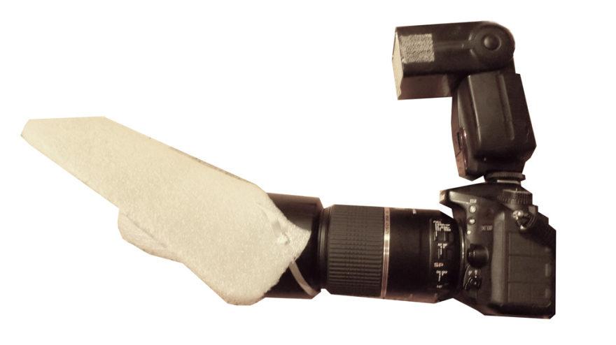 Wie fotografiert man Makros in der Natur - der Diffusor