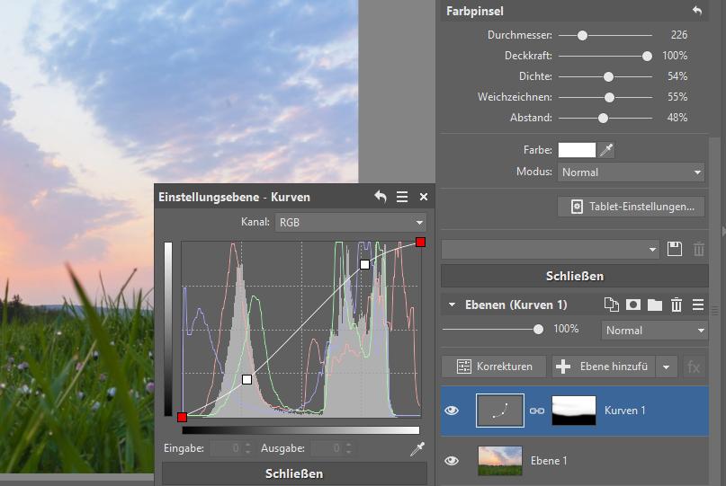 Wie verbessert man Landschaftsaufnahmen - Kurven