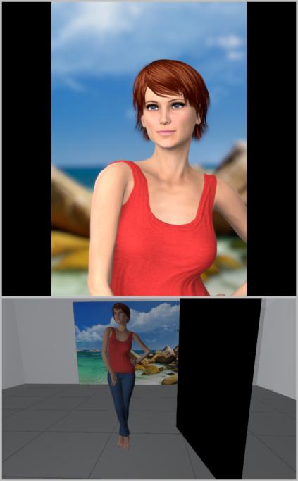 Porträtfotografie bei natürlichem Licht: Das Porträt ist bei der vorherigen Illustration gleichmäßig von allen Seiten beleuchtet, denn das Licht ist perfekt zerstreut.