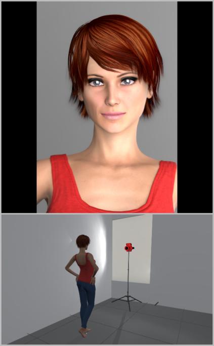 Porträtfotografie bei natürlichem Licht: Durch die Positionierung des Models direkt gegenüber dem Fenster, erzielen Sie eine Frontalbeleuchtung.