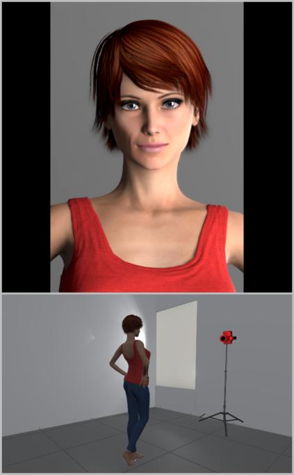 Porträtfotografie bei natürlichem Licht: Um ein interessanteres Ergebnis zu erzielen, sollten Sie das Model etwas seitlich positionieren.
