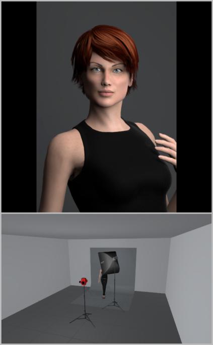 Fotografieren mit künstlichem Licht: Durch das Heranrücken des Studioblitzes an das Model erhalten Sie ein zerstreuteres Licht.