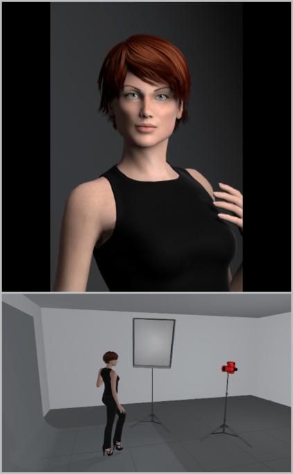 Fotografieren mit künstlichem Licht: Bei der Verwendung eines leistungsstarken Studioblitzes müssen Sie mit der Mitte der Softbox nicht direkt auf das Model zielen, sondern können die Softbox abwenden.