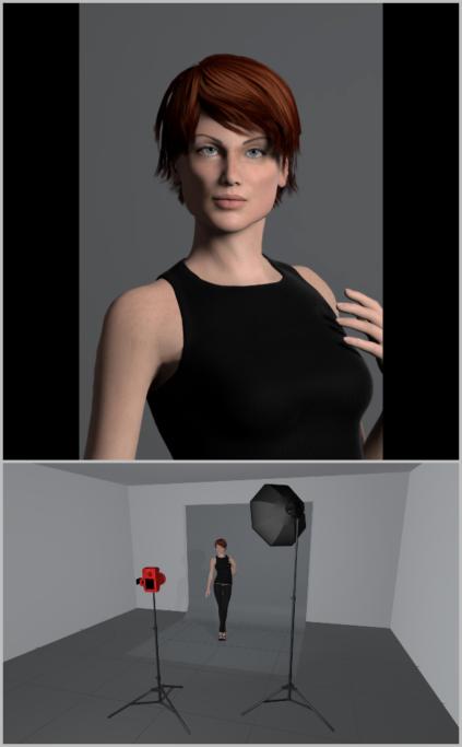 Fotografieren mit künstlichem Licht: Nachdem der Blitz in der Softbox platziert wurde, wird das Licht angenehm zerstreut und das Porträt erhält ein schönes, weiches Licht.