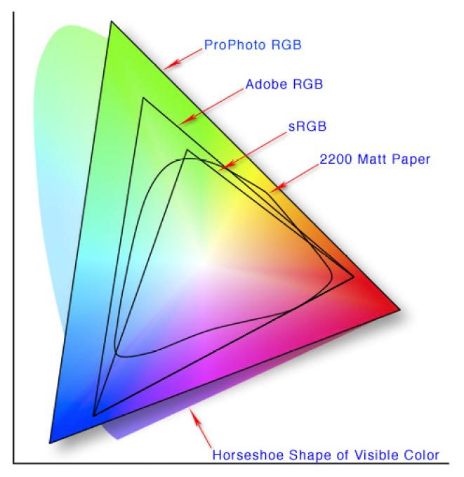 Wie man einen Monitor für Fotografen auswählt: Farbraum.