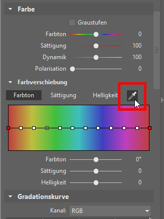 Farben auf den Fotos ändern? - Pipette