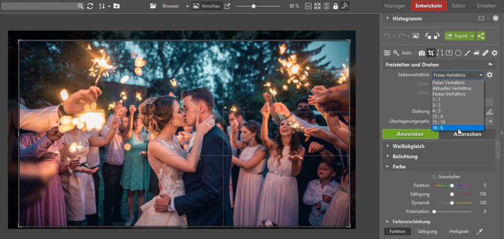 Fotos freistellen - Entwickeln