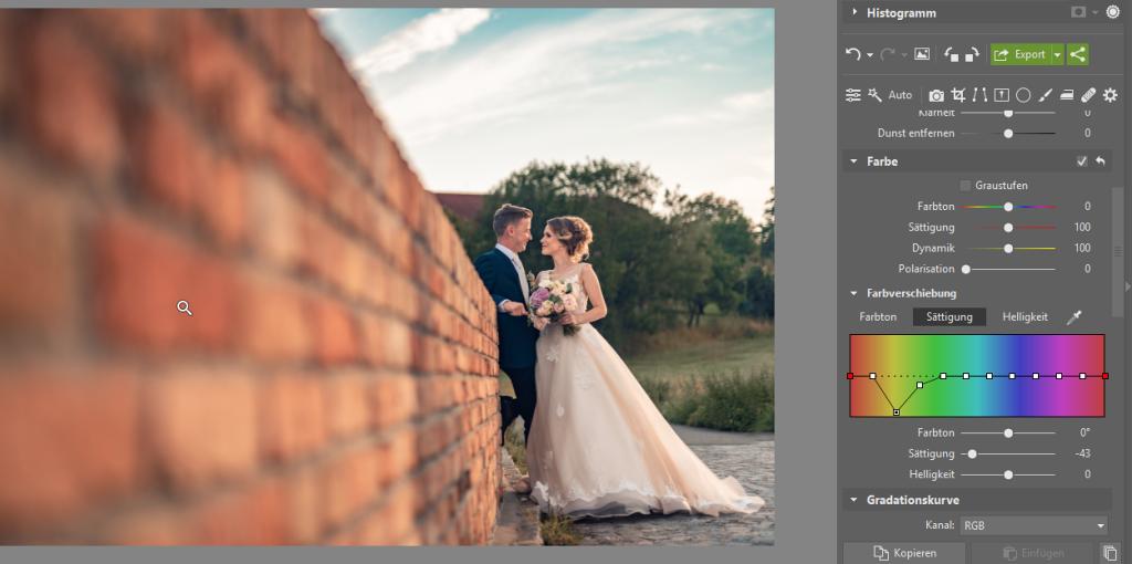 3 Tipps zur Bearbeitung des Hintergrundes: Versuchen Sie die Farbe zu dämpfen, indem Sie die Farbverschiebung verwenden.