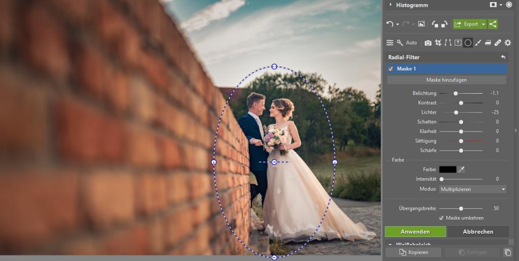 3 Tipps zur Bearbeitung des Hintergrundes: Radial-Filter.
