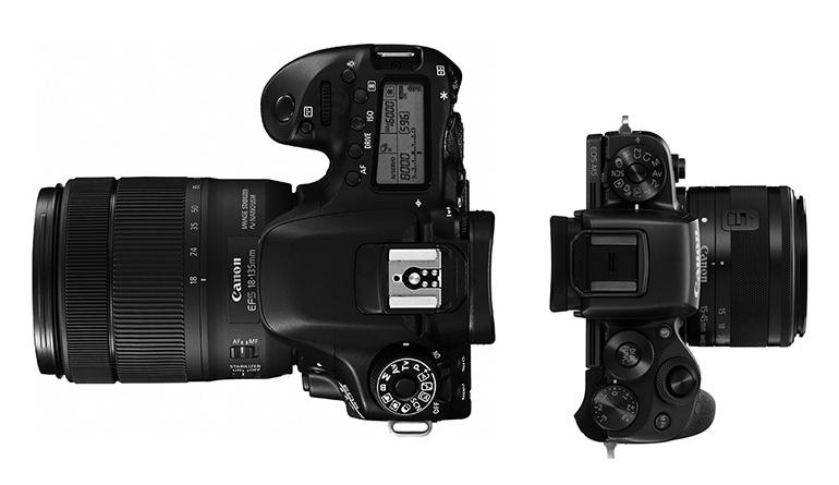 Digitale Spiegelreflexkamera vs. Systemkamera: DSLR und Systemkamera.