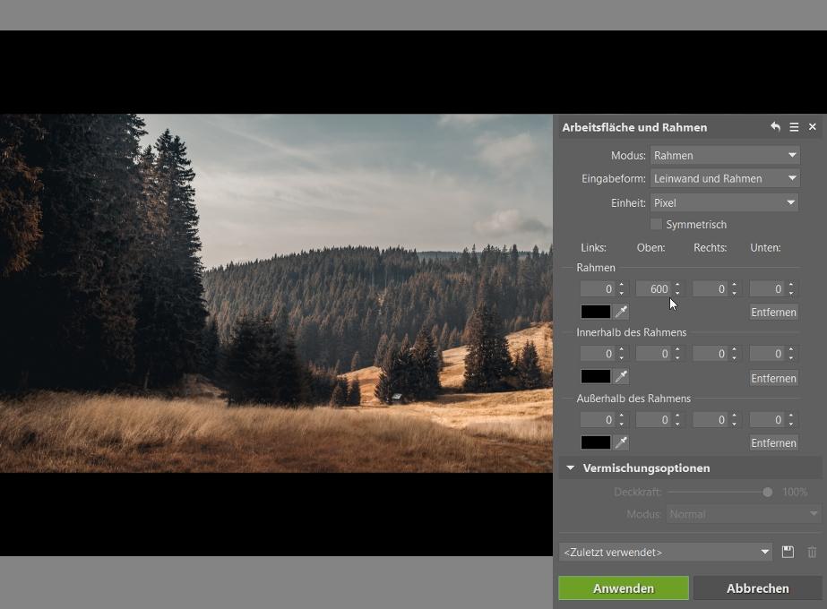 Wie man das Foto durch das Zuschneiden verbessern kann: Rahmen.