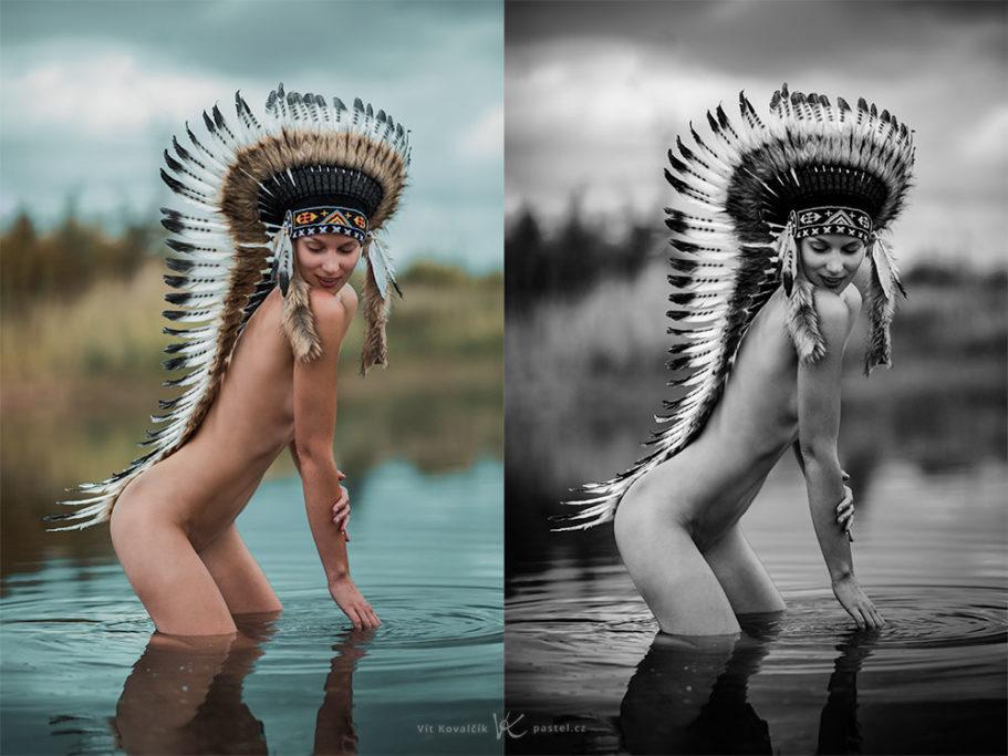 Aktfotografie: Farbaufnahme oder doch lieber in Schwarz-Weiß?