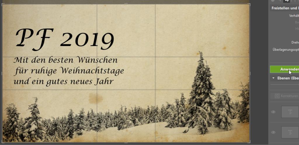 Erstellen Sie originelle Neujahrskarten - schneiden