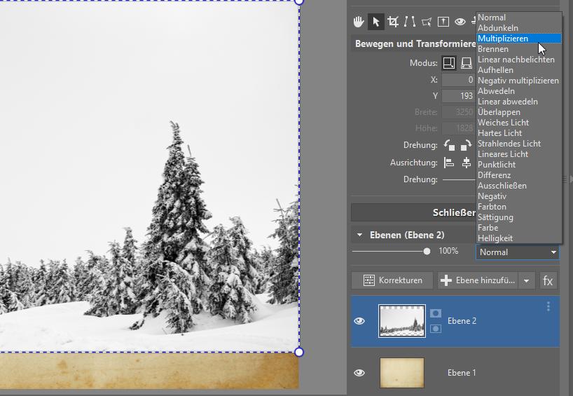 Erstellen Sie originelle Neujahrskarten - multiplizieren