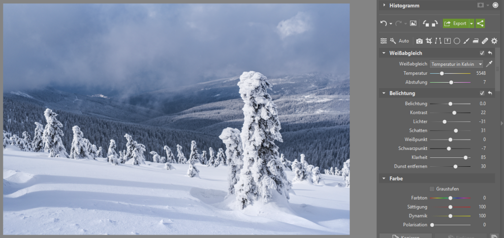 Peppen Sie Ihre Winterfotos auf - belichtung