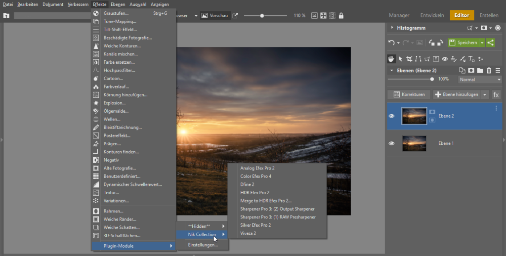 Verbessern Sie Zoner Photo Studio mit Plugins - effekte