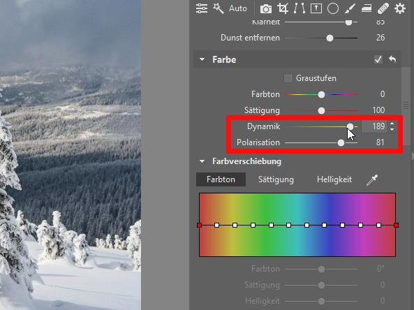Peppen Sie Ihre Winterfotos auf - farbe