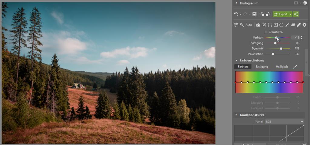 Wie kann man die Bildbearbeitung beschleunigen und gleichzeitig den eigenen Stil beibehalten - Farbton