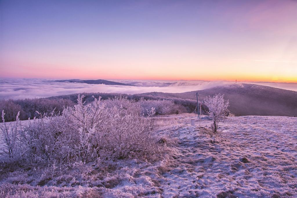 Winteraufnahmen im Freien - Javorina inversion