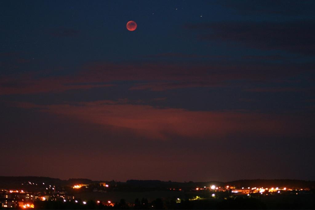 Die Mondfinsternis fotografieren - langere brennweite