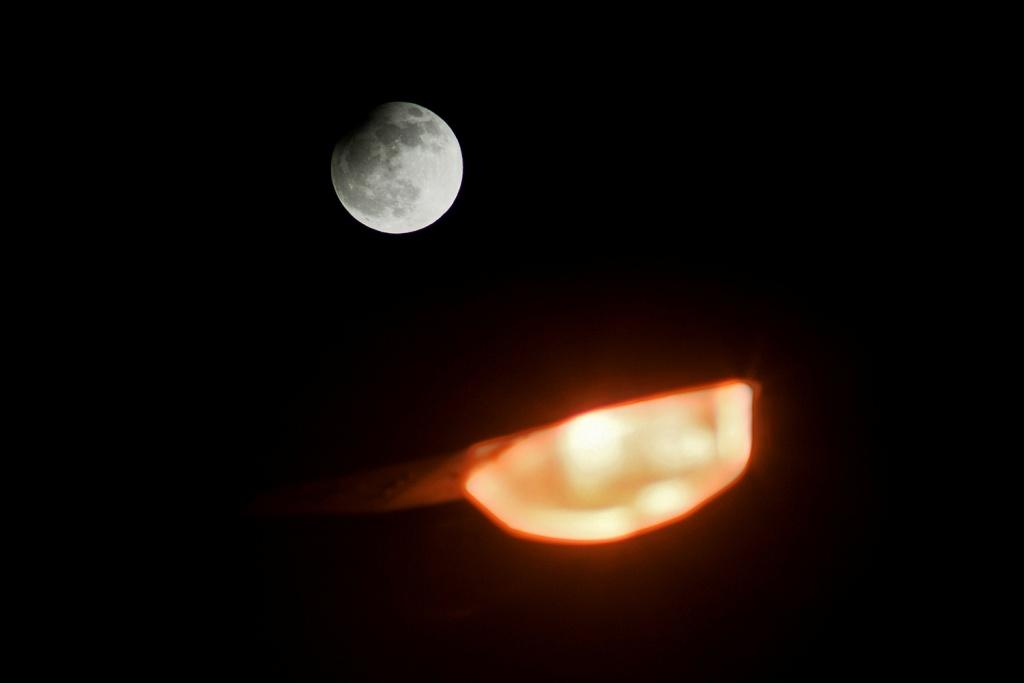 Die Mondfinsternis fotografieren - licht