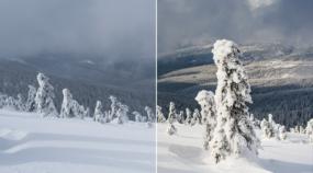 Peppen Sie Ihre Winterfotos auf