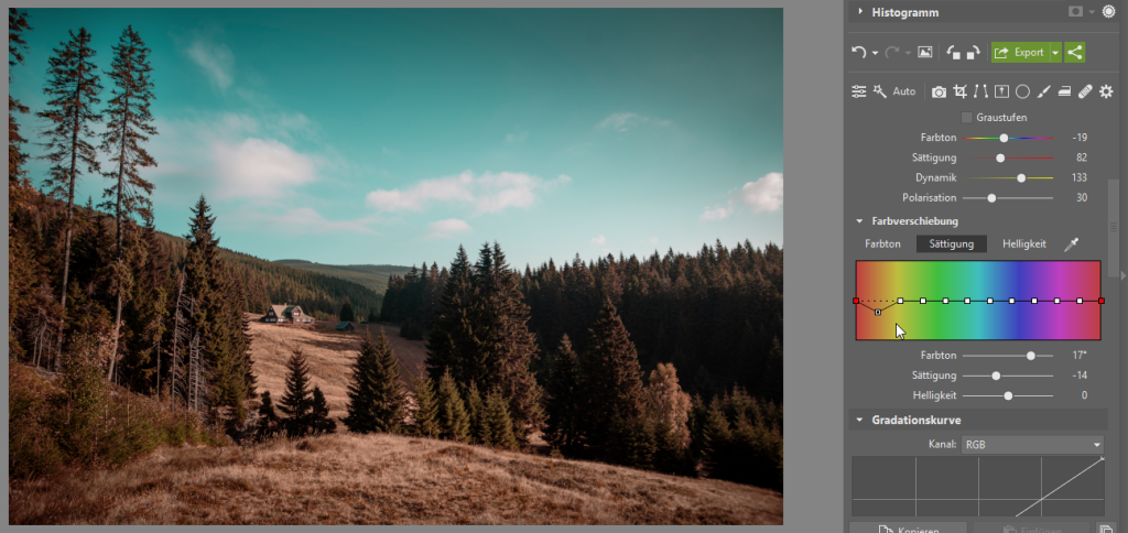 Wie kann man die Bildbearbeitung beschleunigen und gleichzeitig den eigenen Stil beibehalten - Sättigung