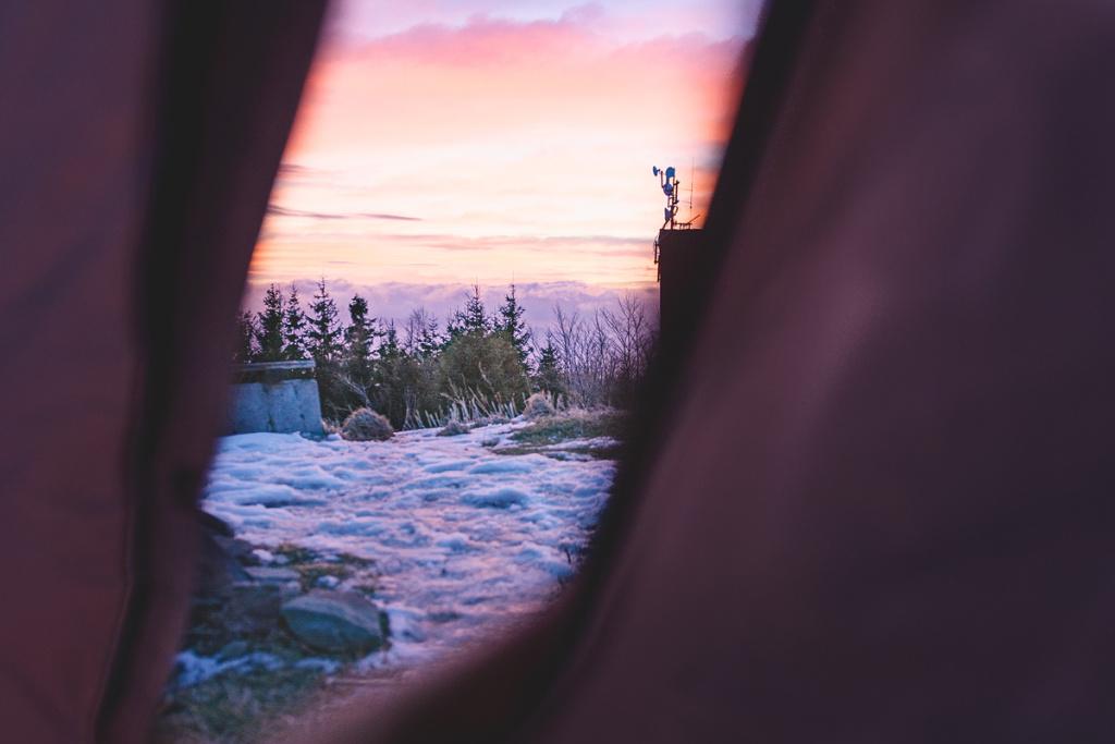 Winteraufnahmen im Freien - zelt